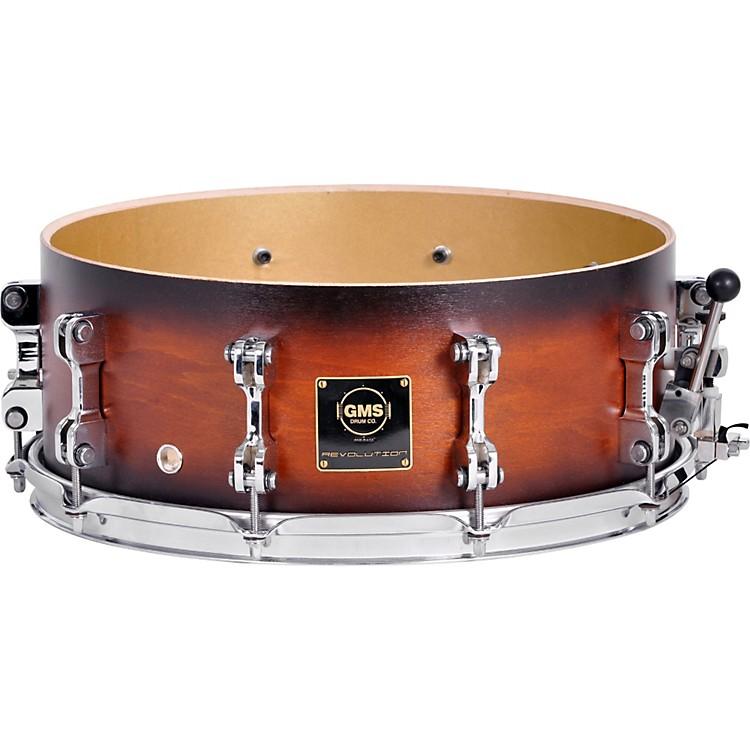 GMSRevolution Maple/Brass Snare Drum7 x 13Ebony