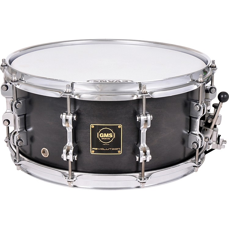 GMS Revolution Maple/Steel Snare Drum 7 x 13 Midnight Black