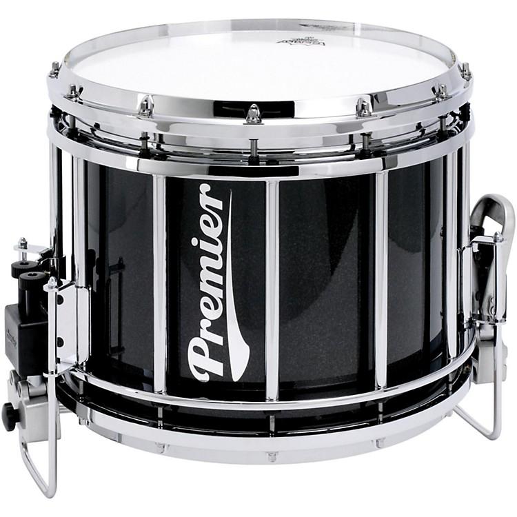 PremierRevolution Series Marching Snare Drum w/Diamond Chrome Hardware14 x 12 in.Ebony Black Lacquer