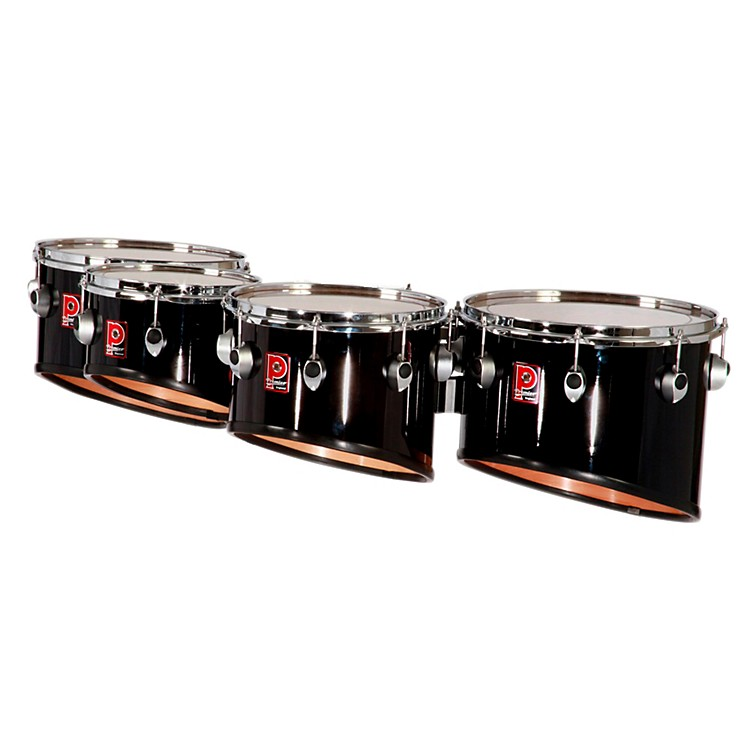 Premier Revolution Series Quads 8, 10, 12 and 14 in. Ebony Black Lacquer