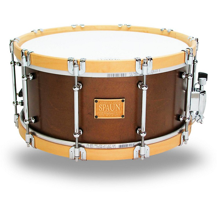 Spaun Revolutionary Wood Hoop Snare Drum 14 x 6.5 in. Tobacco Satin Lacquer