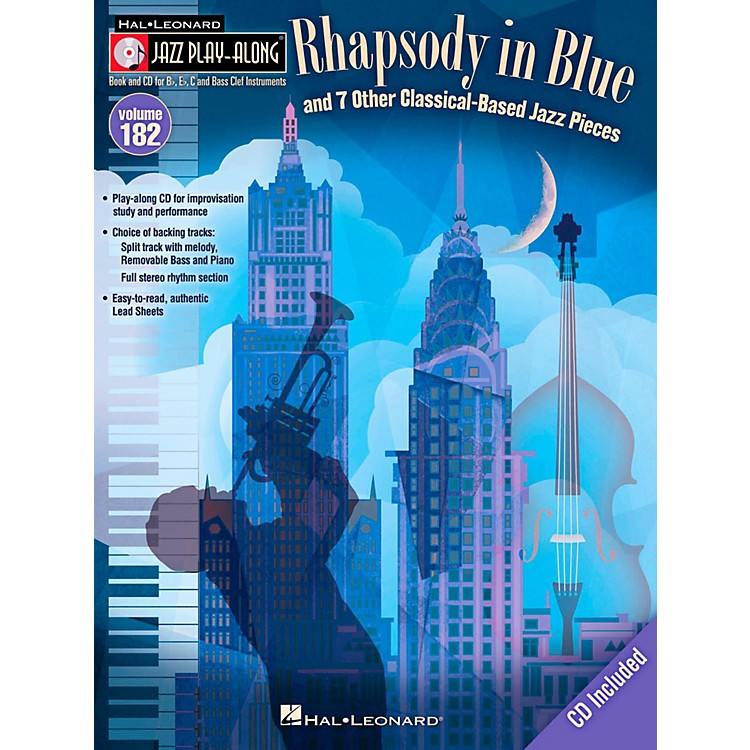 Hal LeonardRhapsody In Blue & 7 Other Classical-Based Jazz Pieces - Jazz Play-Along 182 Book/CD