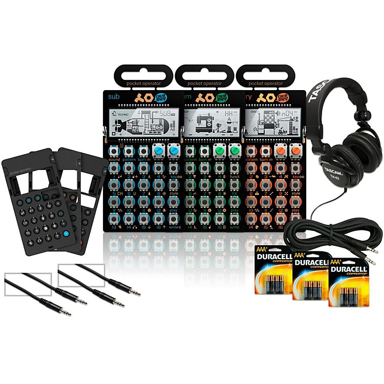 Teenage EngineeringRhythm, Sub, and Factory Pocket Operators with Cases, Batteries, Headphones, and Cables