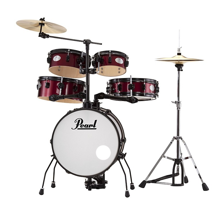 pearl rhythm traveler drum set with cymbals hardware music123. Black Bedroom Furniture Sets. Home Design Ideas