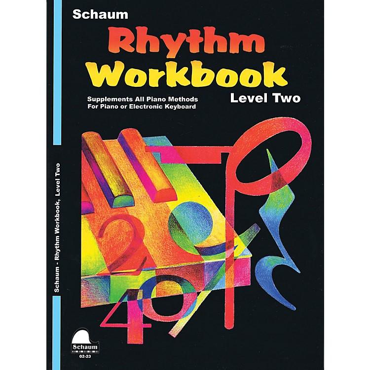 SCHAUMRhythm Workbook (Level 2) Educational Piano Book by Wesley Schaum (Level Elem)