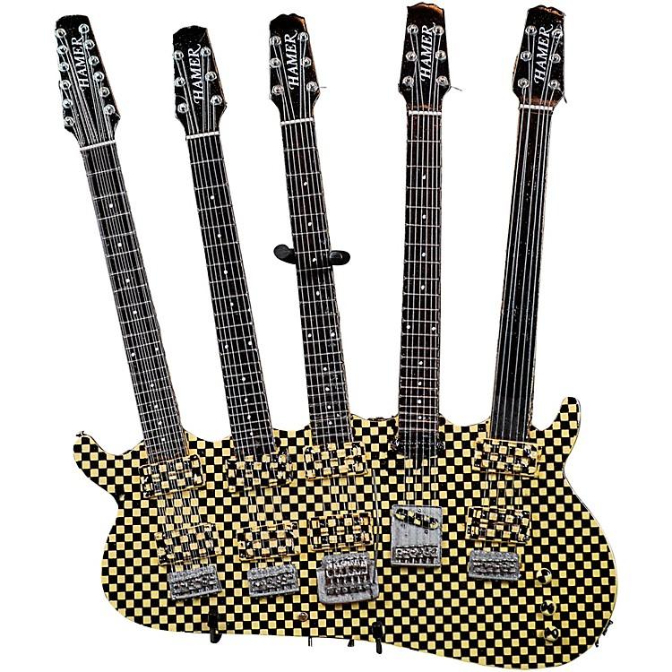 Hal LeonardRick Nielsen 5-Neck Checkered Model Miniature Guitar Replica
