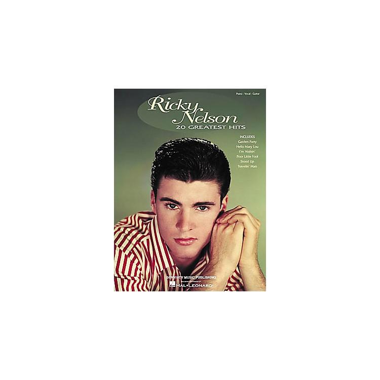 Hal LeonardRicky Nelson - 20 Greatest Hits Piano/Vocal/Guitar Artist Songbook