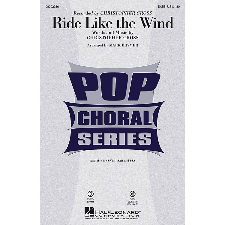 Hal LeonardRide Like the Wind ShowTrax CD by Christopher Cross Arranged by Mark Brymer