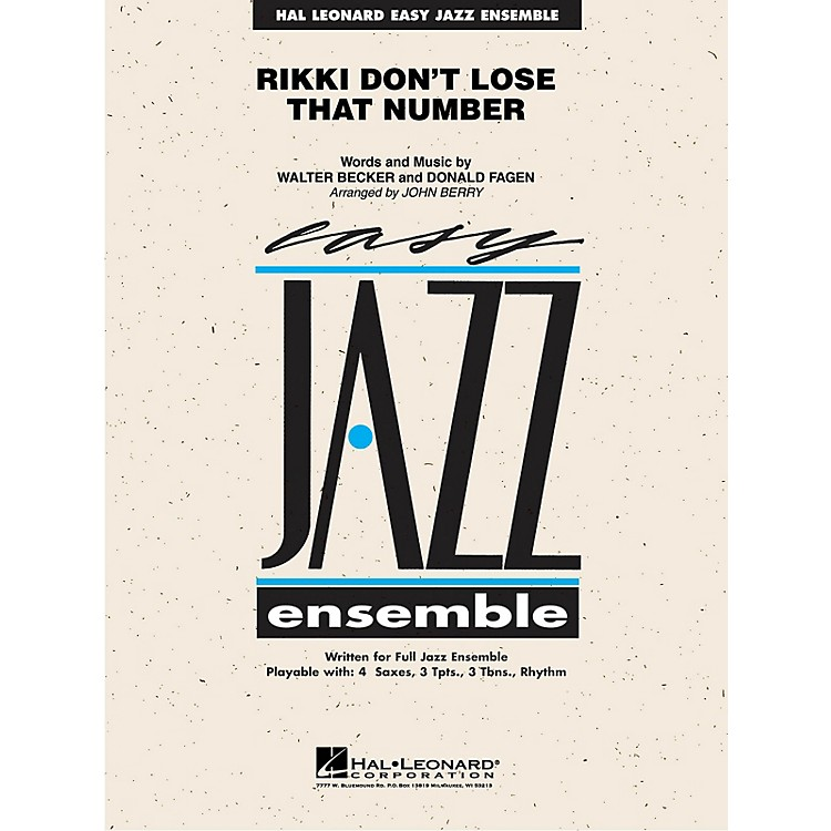 Hal LeonardRikki Don't Lose That Number Jazz Band Level 2 by Steely Dan Arranged by John Berry