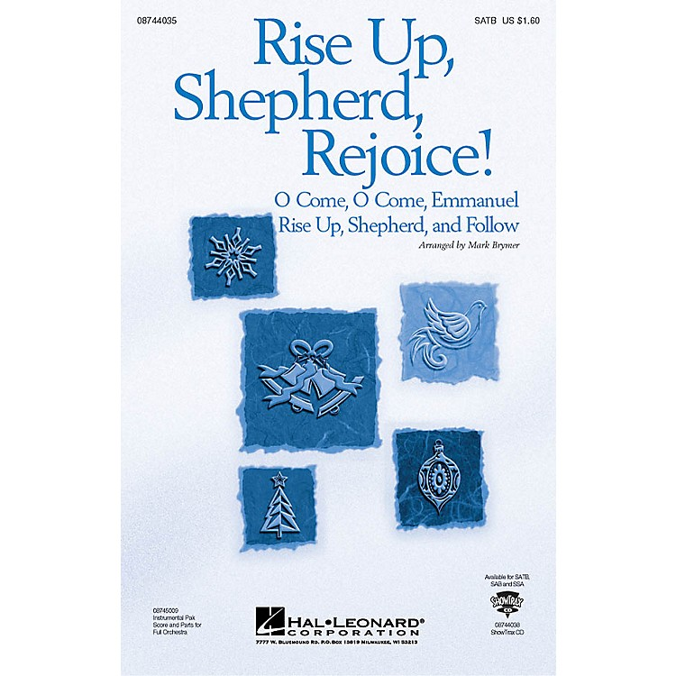 Hal LeonardRise Up, Shepherd, Rejoice! (from The Christmas Suite) SATB arranged by Mark Brymer