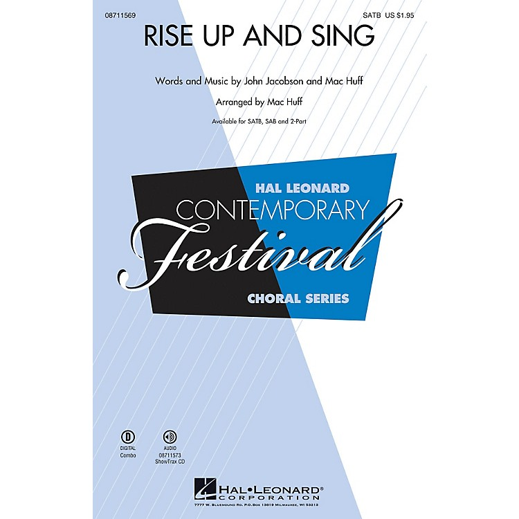 Hal Leonard Rise Up and Sing SATB composed by Mac Huff