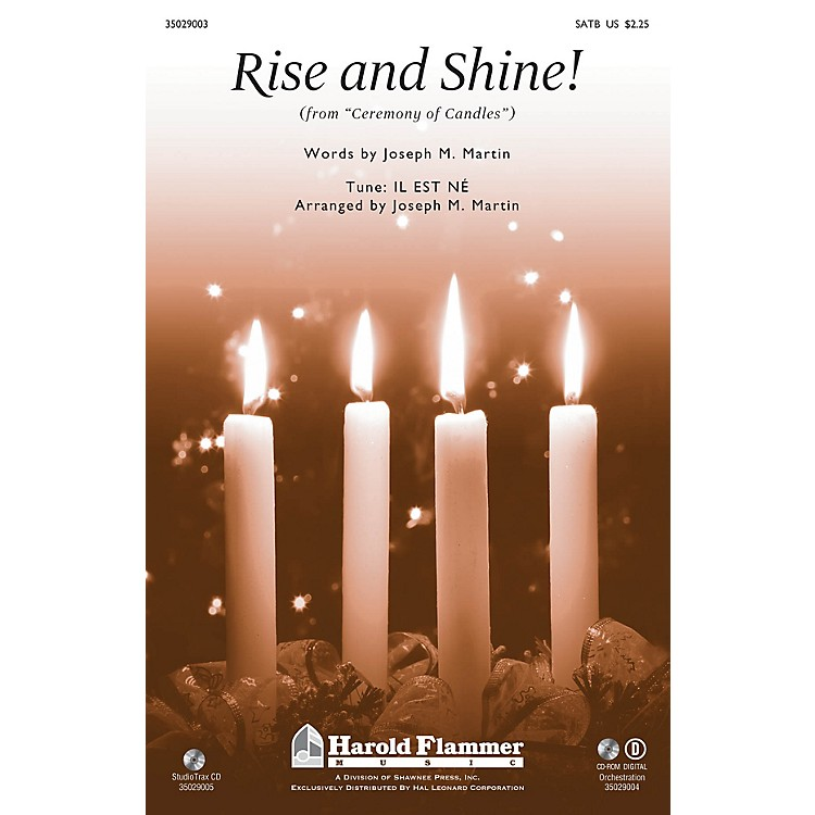 Shawnee PressRise and Shine! (from Ceremony of Candles) Studiotrax CD Arranged by Joseph M. Martin