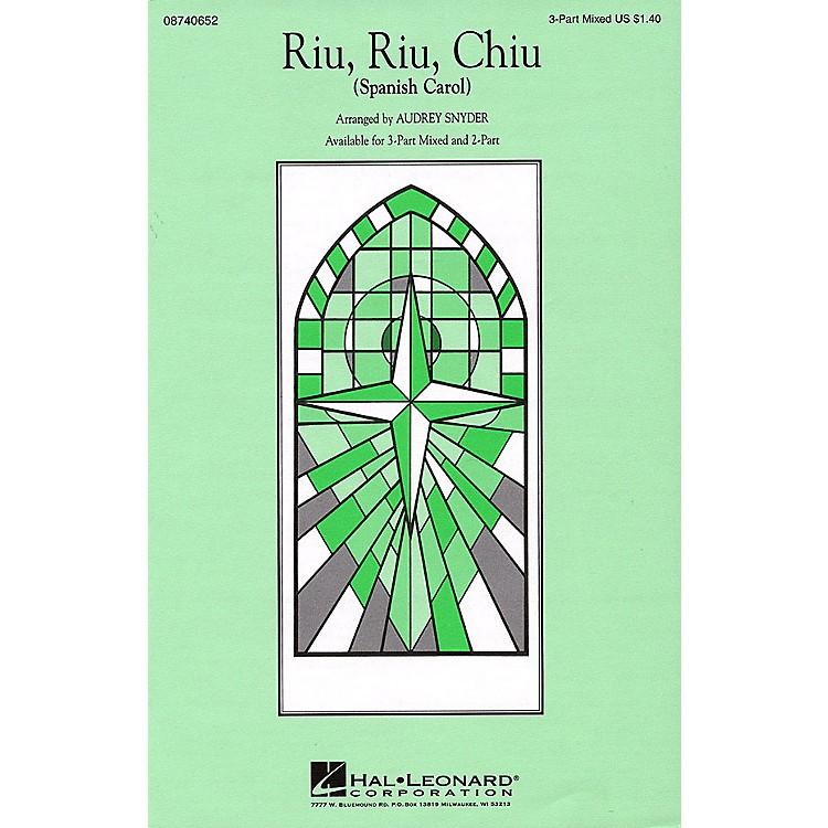 Hal LeonardRiu, Riu, Chiu 3-Part Mixed arranged by Audrey Snyder