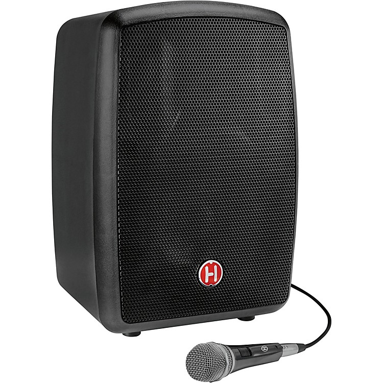 Harbinger RoadTrip 25 8in. Battery-Powered Portable Speaker with Bluetooth and Microphone  Black