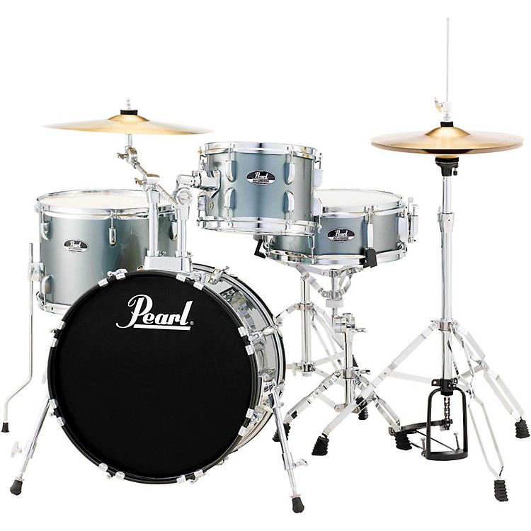 Pearl Roadshow 4-Piece Jazz Drum Set Charcoal Metallic