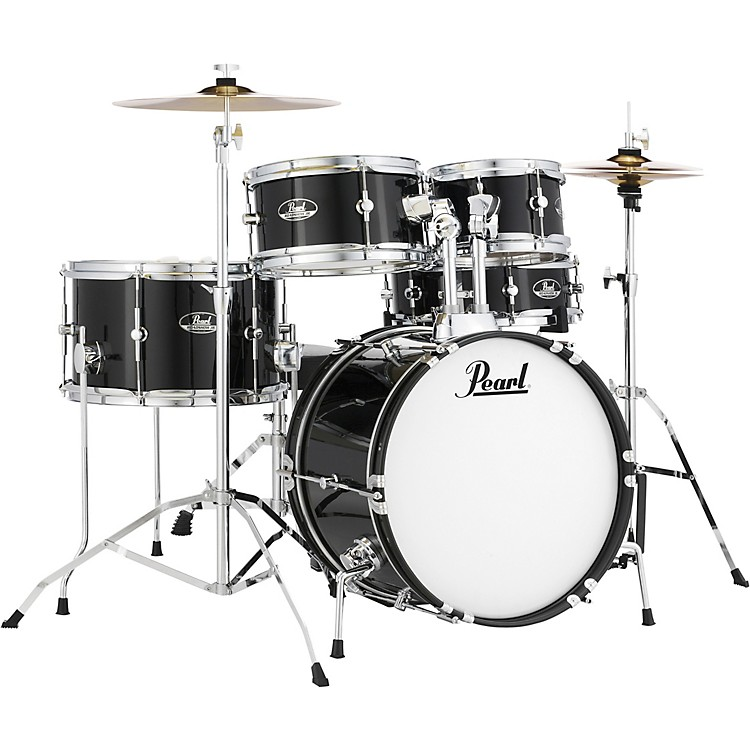 PearlRoadshow Jr. Drum Set with Hardware and CymbalsJet Black