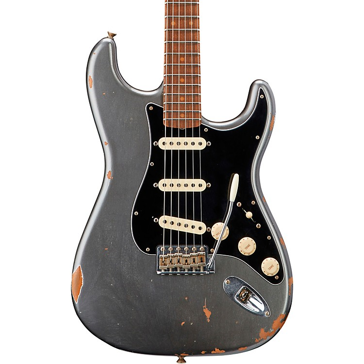 Fender Custom Shop Roasted Dual-Mag Stratocaster Electric Guitar Aged Pewter