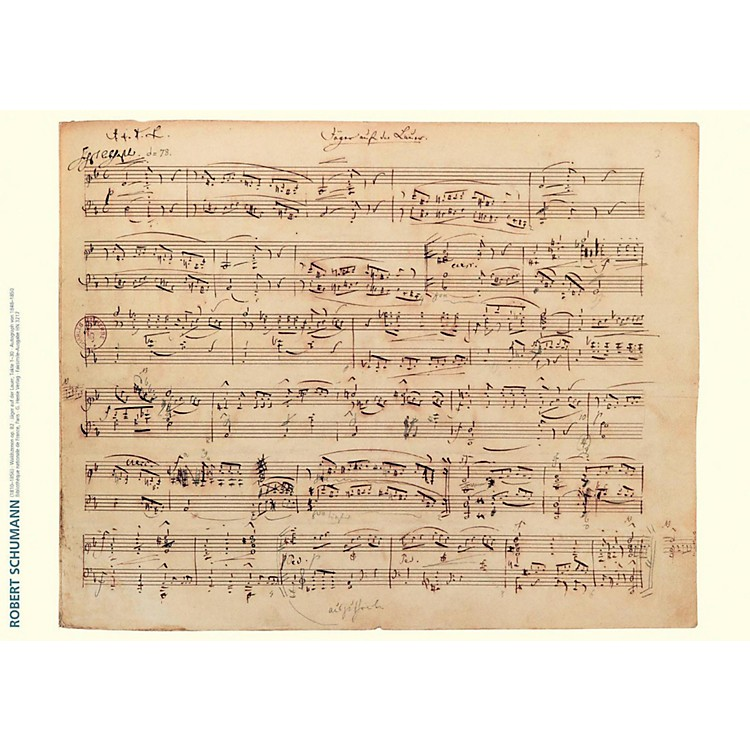 Axe HeavenRobert Schumann Music Manuscript Poster - Forest Scenes, Op. 82