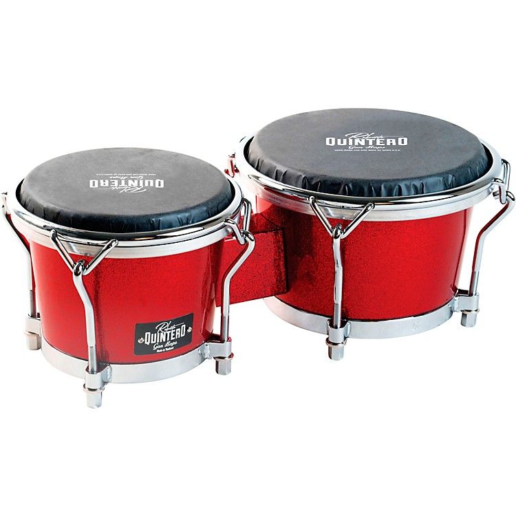 Gon Bops Roberto Quintero Signature Bongo 7 and 8.5 in. Red Sparkle