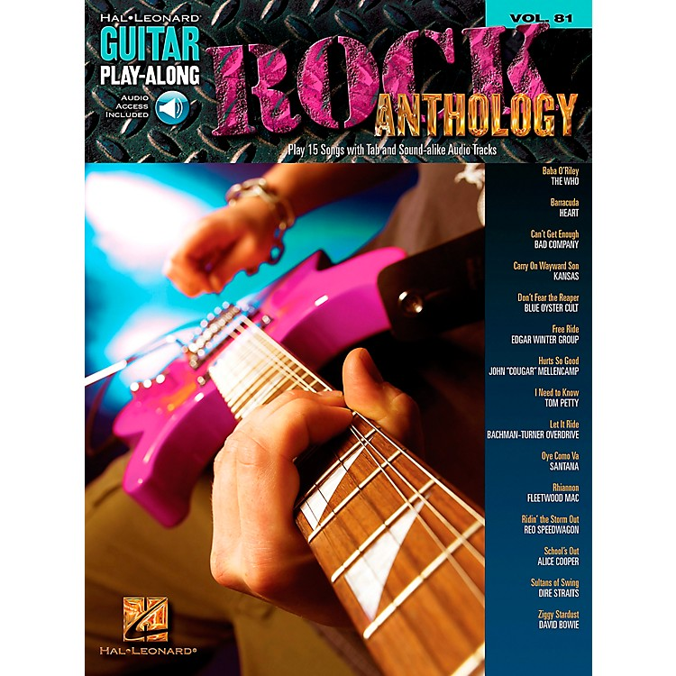 Hal LeonardRock Anthology - Guitar Play-Along Series, Volume 81 (Book/CD)