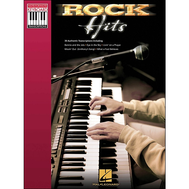 Hal Leonard Rock Hits - Note for Note Keyboard Transcriptions