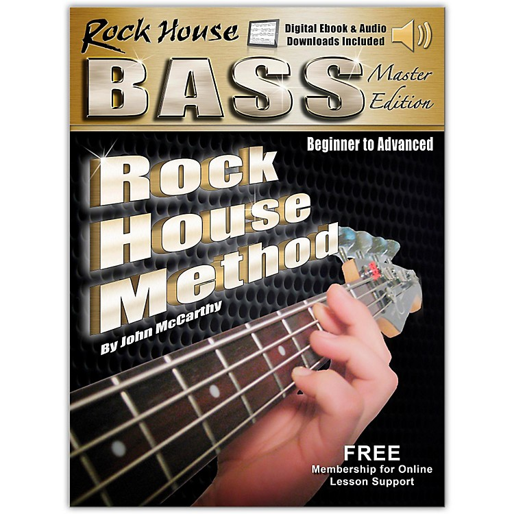 Hal LeonardRock House Bass Guitar Master Edition Begining - Advanced Complete Book/Online Audio and Video