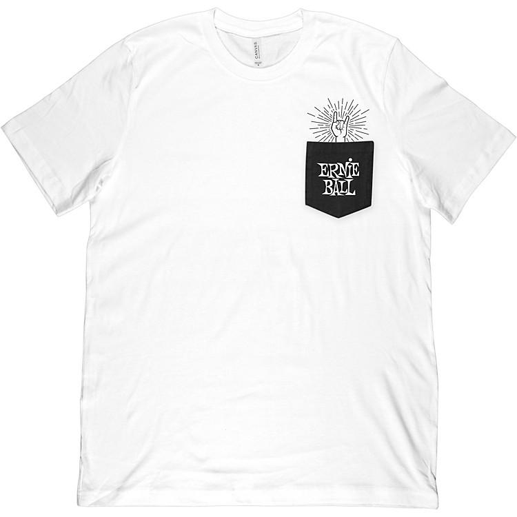 Ernie BallRock-On Pocket T-ShirtMediumWhite