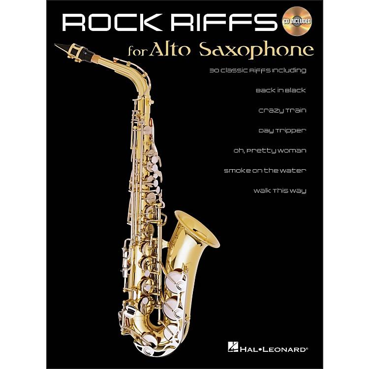 Hal LeonardRock Riffs for Alto Sax Book/CD