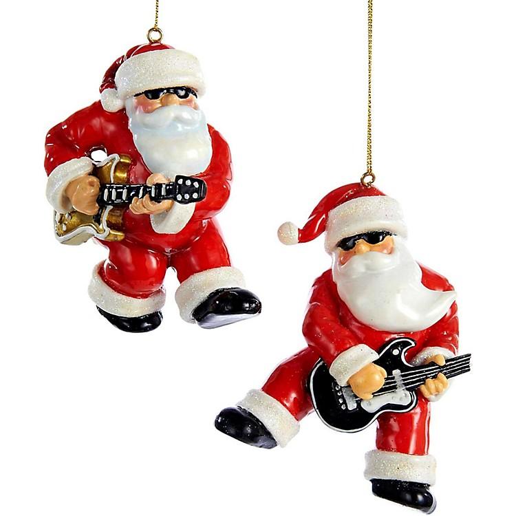 Kurt S. AdlerRock & Roll Santa Ornament 2/Assorted