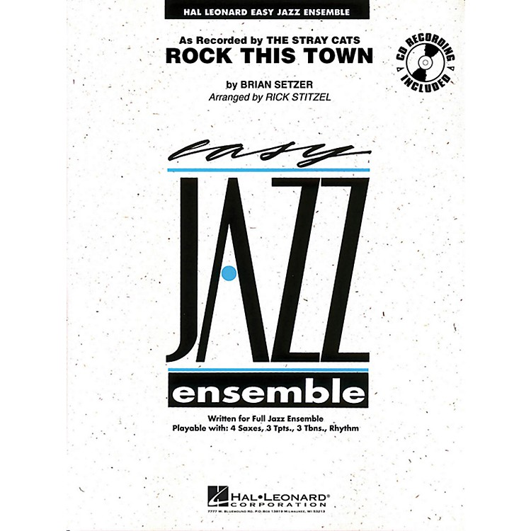 Hal Leonard Rock This Town - Easy Jazz Ensemble Series Level 2
