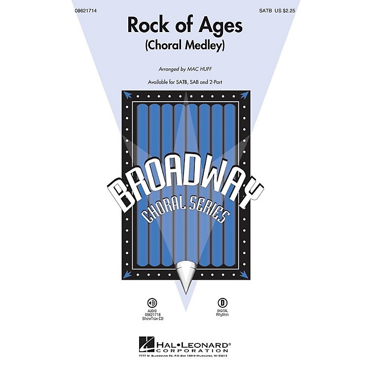Hal Leonard Rock of Ages (Choral Medley from the Broadway Musical) SATB arranged by Mac Huff