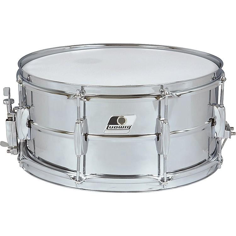 LudwigRocker Steel Shell Snare Drum14 x 6.5 in.