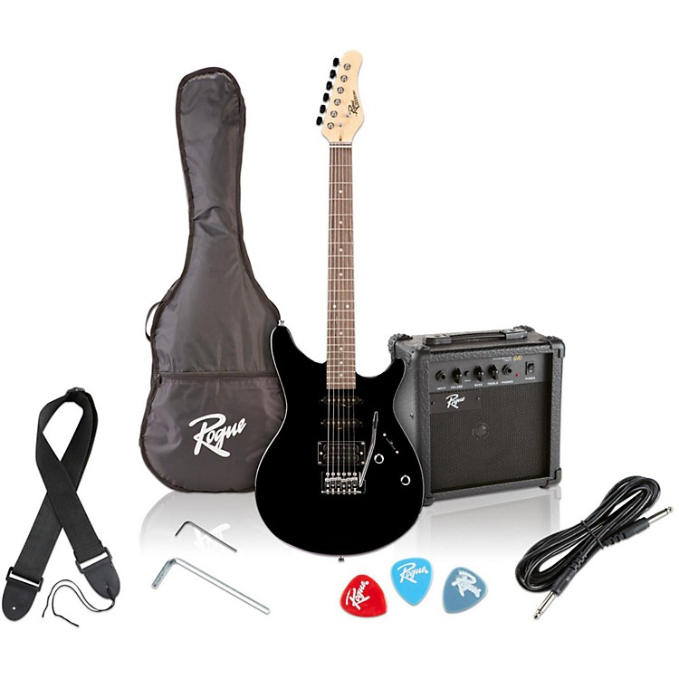 Rogue Rocketeer Electric Guitar Pack Black 888365813462