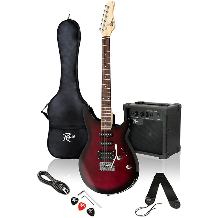 Rogue Rocketeer Electric Guitar Pack Wine Burst