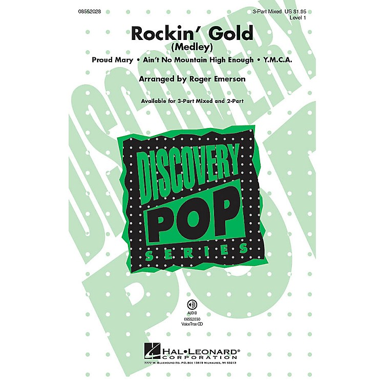Hal Leonard Rockin' Gold (Medley) Discovery Level 1 3-Part Mixed arranged by Roger Emerson