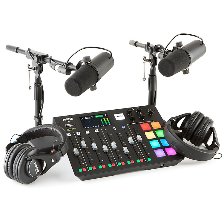 RodeRodecaster Pro 2-Person Podcasting Bundle With SM7B & SRH440