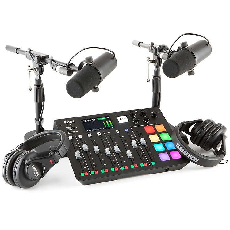 RodeRodecaster Pro 2 Person Podcasting Bundle With SM7B & SRH840