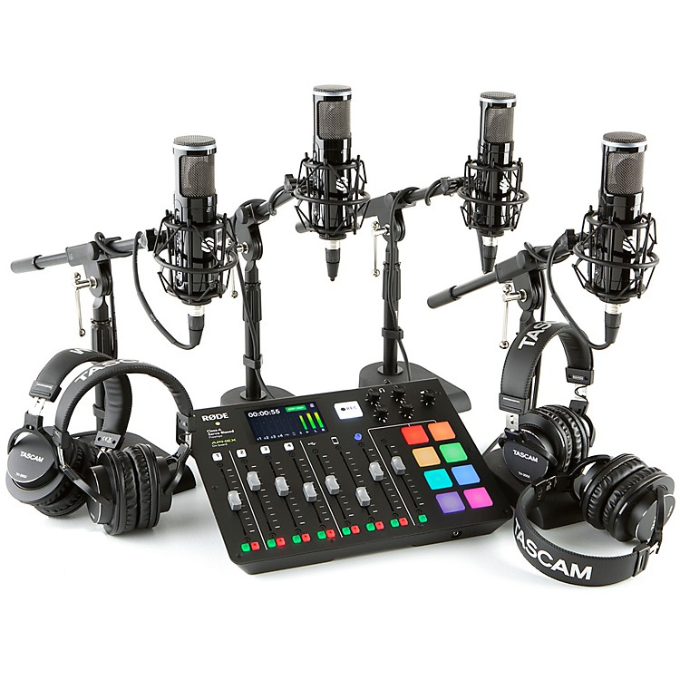 RodeRodecaster Pro 4 Person Podcasting Bundle with SP150 &TH200X