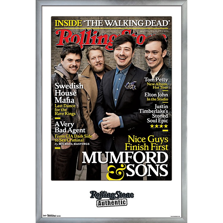 Trends InternationalRolling Stone - Mumford And Sons PosterFramedSilver