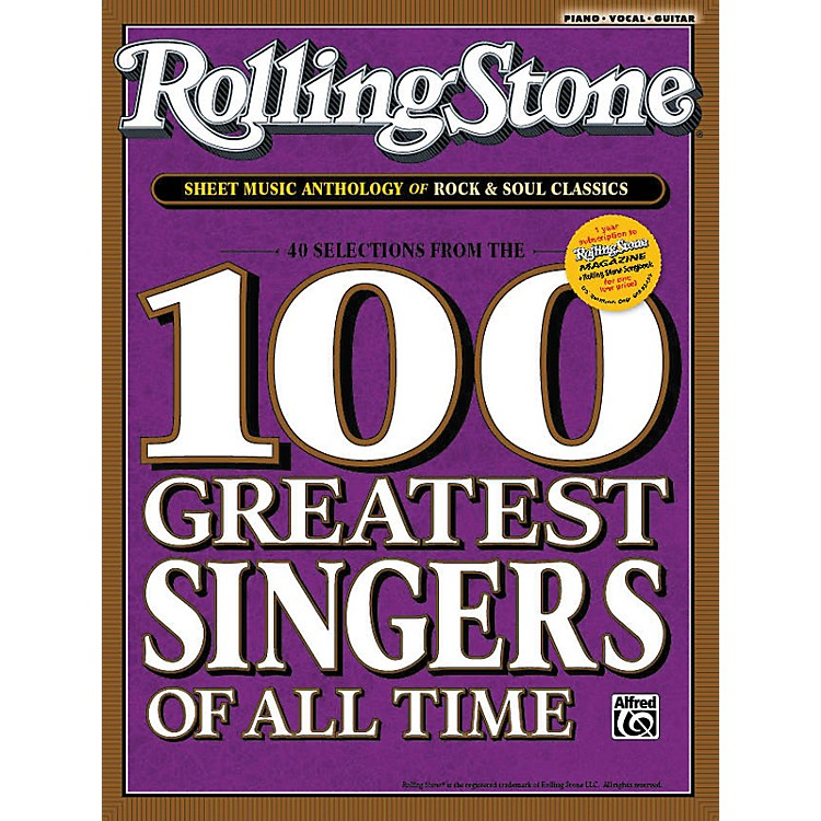 Alfred Rolling Stone Sheet Music Anthology of Rock & Soul Classics (Book)