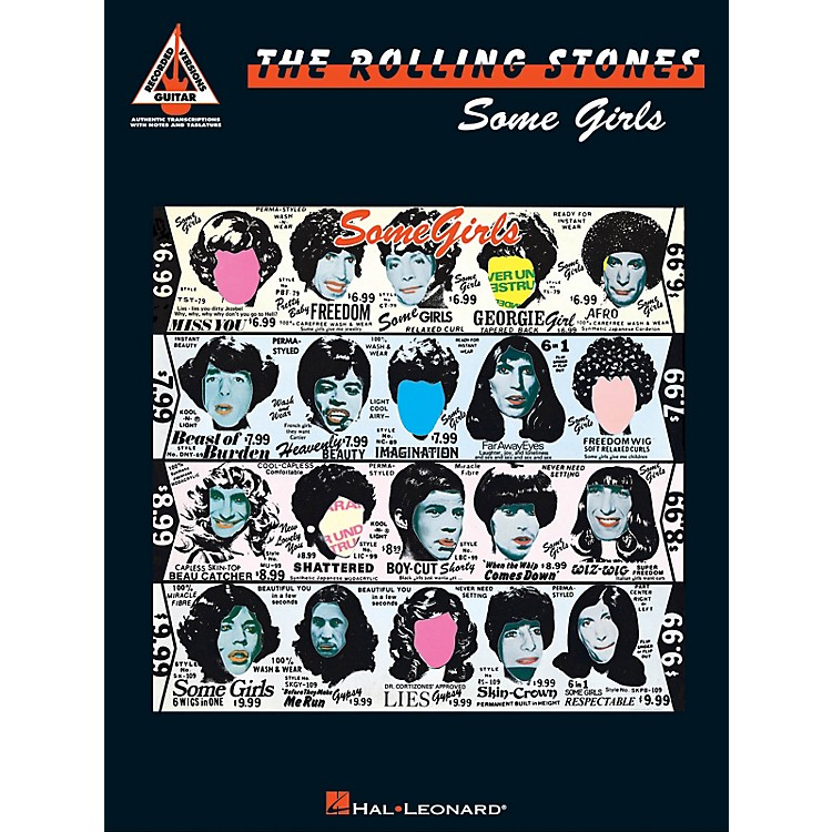 Hal LeonardRolling Stones - Some Girls Guitar Recorded Version Series Softcover Performed by Rolling Stones