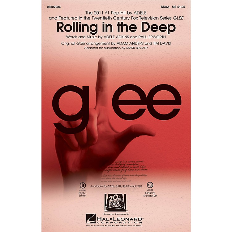 Hal Leonard Rolling in the Deep SSAA by Adele arranged by Adam Anders
