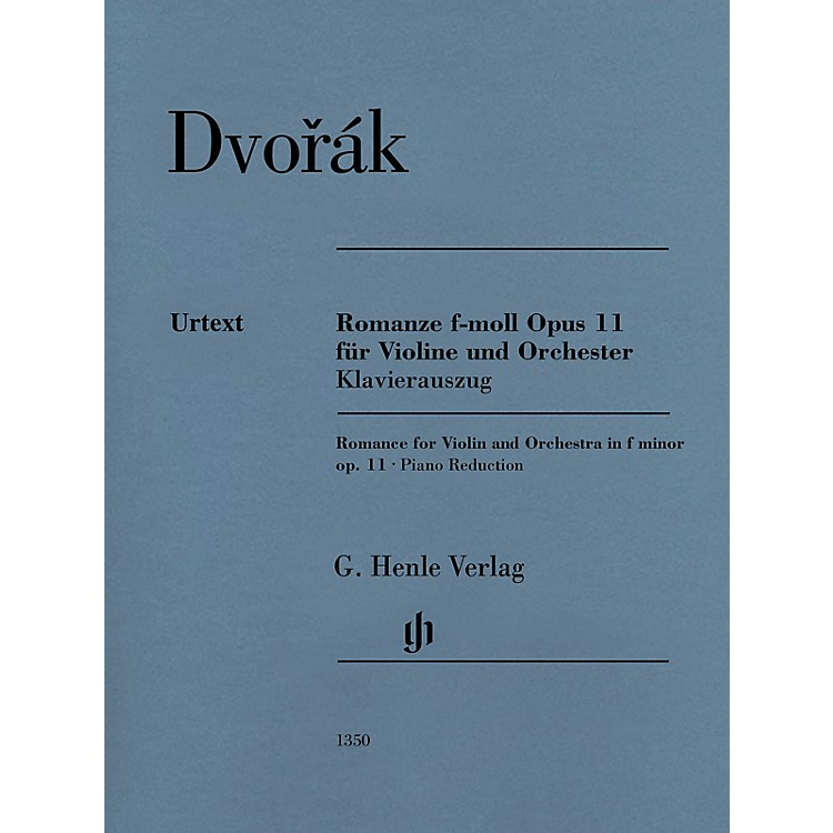 G. Henle Verlag Romance in F Minor Op. 11 (Violin and Piano) Henle Music Folios Series Softcover by Antonin Dvorak
