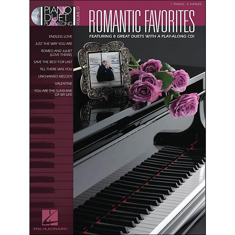 Hal LeonardRomantic Favorites Piano Duetplay-Along Volume 27 Book/CD
