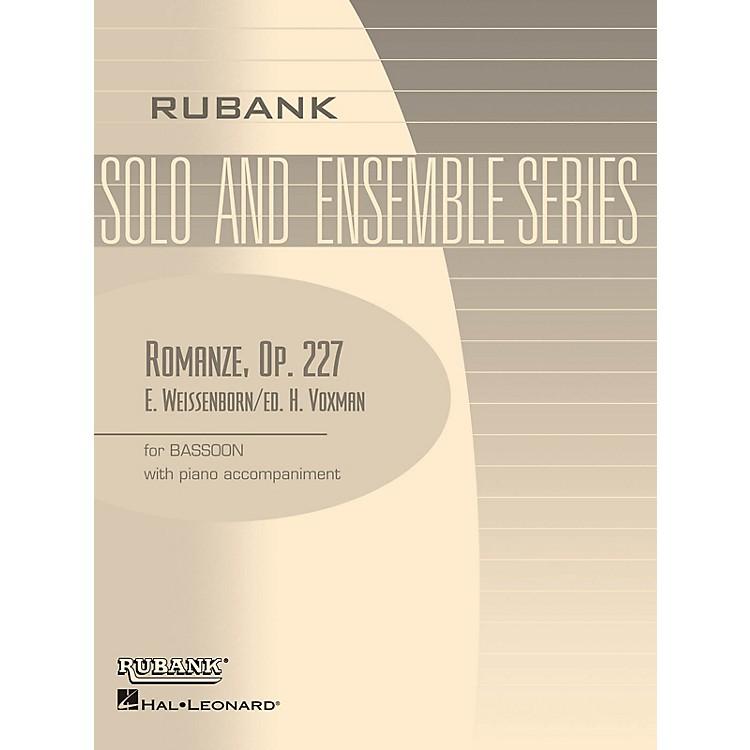 Rubank PublicationsRomanze, Op 227 (Bassoon Solo with Piano - Grade 2.5) Rubank Solo/Ensemble Sheet Series