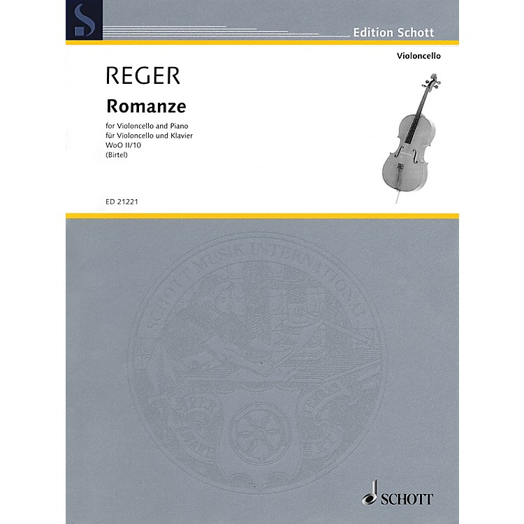 Schott Romanze WoO II/10 (Cello and Piano) String Series Softcover