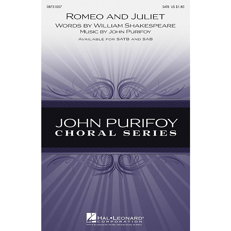Hal LeonardRomeo and Juliet SATB composed by John Purifoy