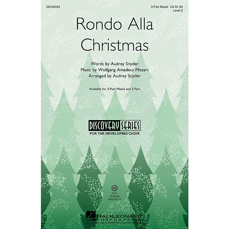 Hal LeonardRondo Alla Christmas (Discovery Level 2) 3-Part Mixed arranged by Audrey Snyder