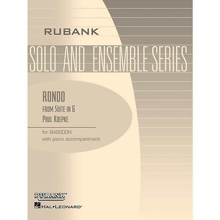 Rubank PublicationsRondo (from Suite in G) (Bassoon Solo with Piano - Grade 3) Rubank Solo/Ensemble Sheet Series