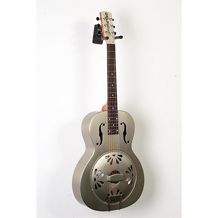 Gretsch Guitars Root Series G9201 Honeydipper Metal Round Neck Resonator Nickel Plated Brass Body 888365894218